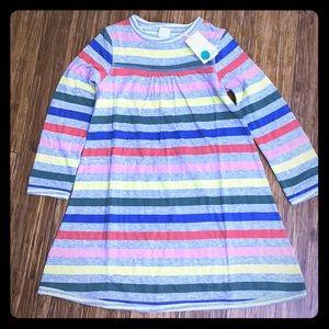 Adorable Mini Boden Reversible Striped Dress